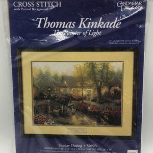 Thomas Kinkade Cross Stitch Vintage Sunday Outing